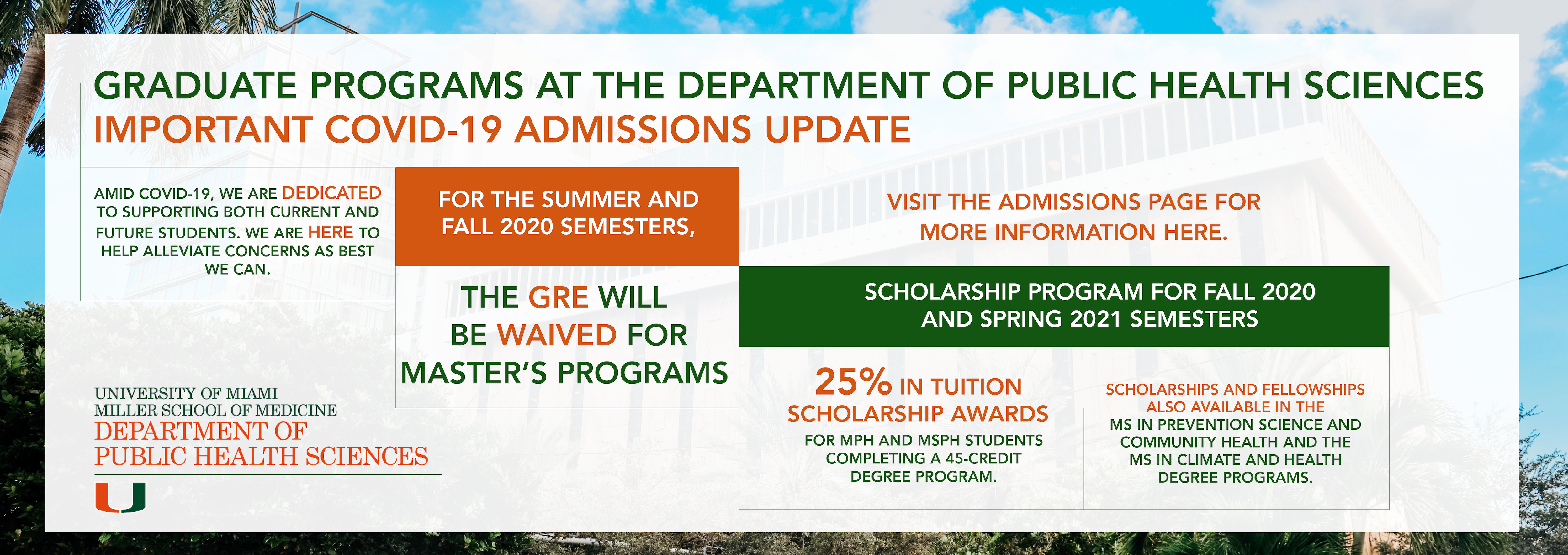 admissions update
